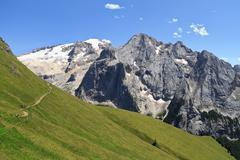 Dolomiti - mount Marmolada Stock Photos