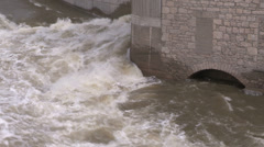 Raging river in spring flood conditions Stock Footage