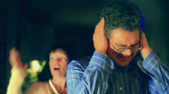 covering cover ears not listening avoid avoiding - stock footage