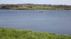 Blagdon lake Somerset England Stock Footage