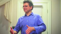 Hand gesture gesturing movement Stock Footage
