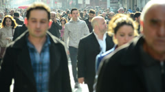 Crowd of people walking in the street Stock Footage