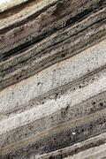 rock layers - stock photo