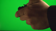 Stock Video Footage of Hands Playing On A Video Console Controller On A Green Screen, Chroma, Key