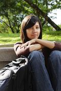 Woman in a park Stock Photos