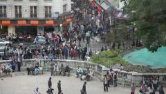 EDITORIAL: Crowd of people in Paris. Stock Footage