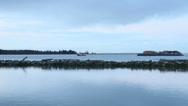 Lumber Barge, Fraser River, BC Stock Footage