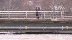 Walkerton Ontario spring flood Stock Footage