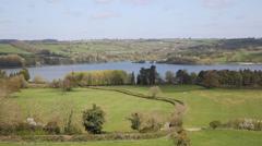 Blagdon lake Somerset England uK Stock Footage