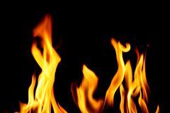 inferno fire - stock photo