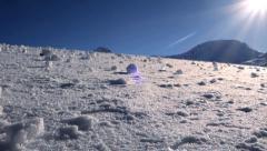 Snow winter background. sun sunshine weather Stock Footage