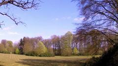 The Groenenberg park (Gaasbeek, Belgium). Stock Footage