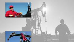 Oil and Gas Industry - Crude Oil Production Stock Footage