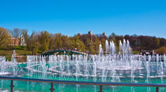 Fountain in Moscow  in Tsaritsyno park Stock Footage