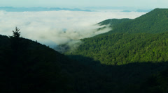 Time lapse - Low Clouds in the Blue Ridge Montains Stock Footage