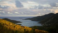 1062 Coral Bay, St. John, USVI - Caribbean sunset Timelapse Stock Footage