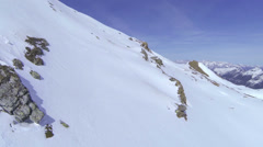 AERIAL: Winter mountains - stock footage