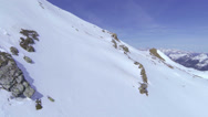 Stock Video Footage of AERIAL: Winter mountains