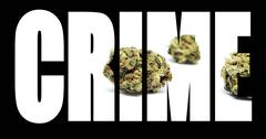 marijuana, crime - stock illustration