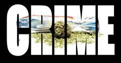 Stock Illustration of marijuana, crime