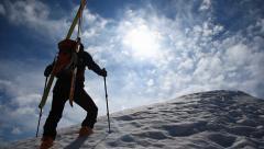 Ski touring Stock Footage