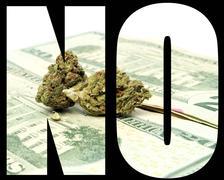 marijuana, no - stock illustration