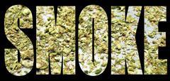 marijuana, smoke - stock illustration