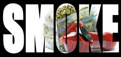 Marijuana, smoke Stock Illustration