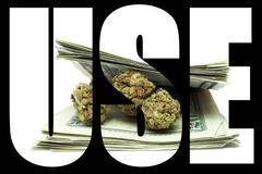 marijuana use - stock illustration