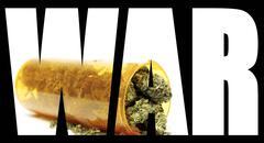Marijuana war Stock Illustration