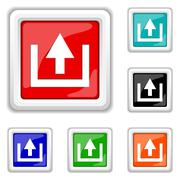 Upload icon Stock Illustration