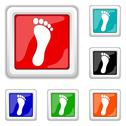 Stock Illustration of foot print icon