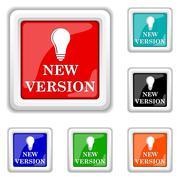 Stock Illustration of new version icon
