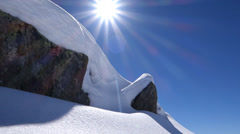 Snowcapped snow covered landscape. winter season Stock Footage
