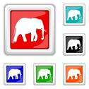 Stock Illustration of elephant icon
