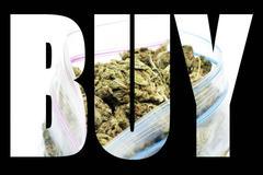marijuana buy - stock illustration