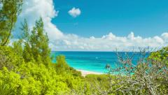 Secluded Private Beach in Tropical Bermuda - stock footage
