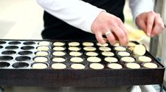 poffertjes dutch pancakes - stock footage