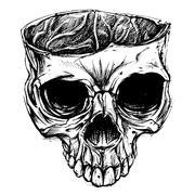 Skull - stock illustration
