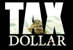 Marijuana tax Stock Illustration