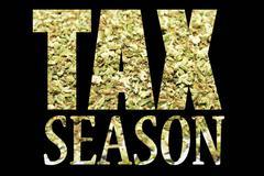 marijuana tax - stock illustration