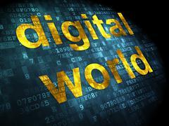 Stock Illustration of Data concept: Digital World on digital background