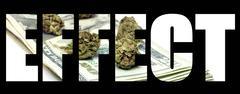 Marijuana effect Stock Illustration