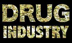 Marijuana drug industry Stock Illustration