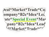 Stock Illustration of Business concept: Special Event on Paper background
