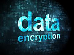 Privacy concept: Data Encryption on digital background - stock illustration