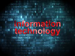 Information concept: Information Technology on digital - stock illustration