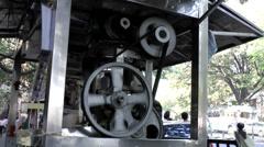 India Maharashtra District Mumbai 037 stall with a sugarcane press Stock Footage