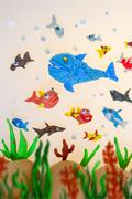 plasticine marine life - stock photo
