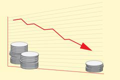 Falling Economy Graph - stock illustration